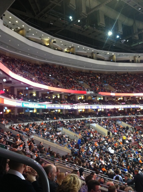Even the upper deck was full...