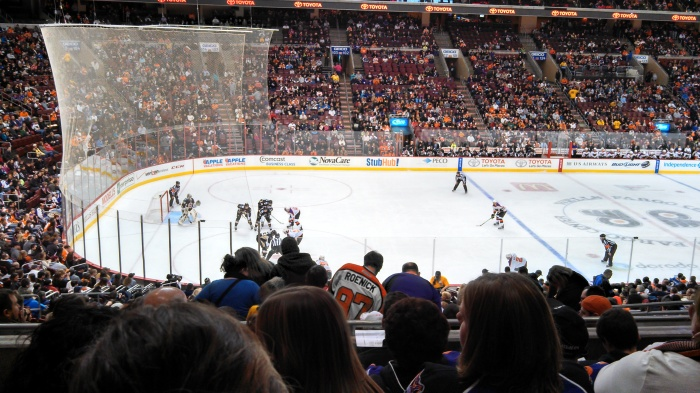Our view of play.  Photo courtesy Matt.