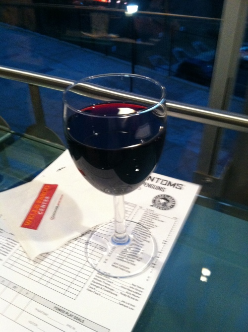 A drink at the Cadillac Grille bar.  I gave up beer for Lent.  Does wine count as beer?