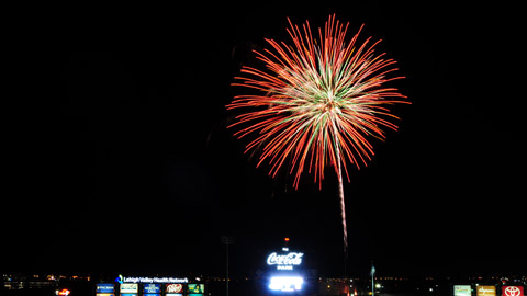 Friday Night Fireworks, photo courtesy ironpigsbaseball.com