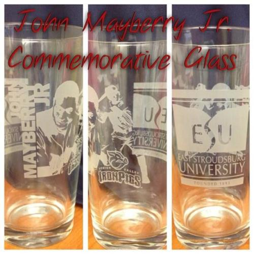 John Mayberry, Jr. commemorative pint glass, picture courtesy @porkcenter