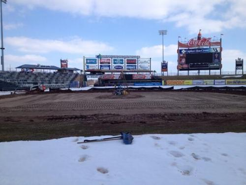 New Infield Being Constructed.  From Kurt Landes' Twitter Feed 3/9/2014
