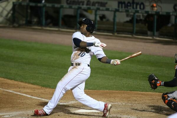 Maikel Franco's other homer.  Photo: Cheryl Pursell