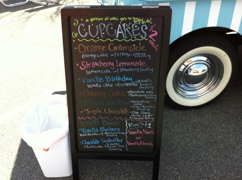 Cupcake menu