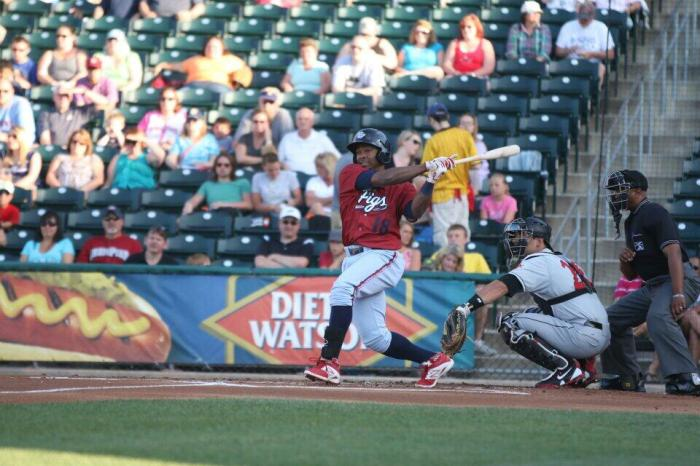 Castro with the lead-off double.  Photo: Cheryl Pursell