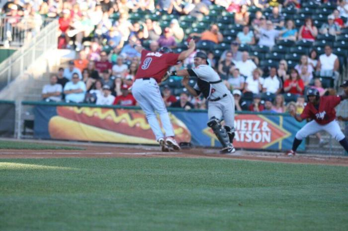 Sanchez attempts the tag on Henson (1) Photo Cheryl Pursell