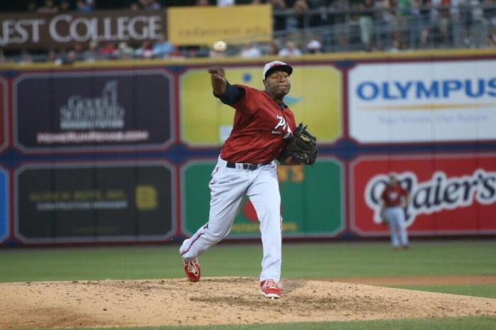 Hector Nerris, still pitching well. Photo: Cheryl Pursell