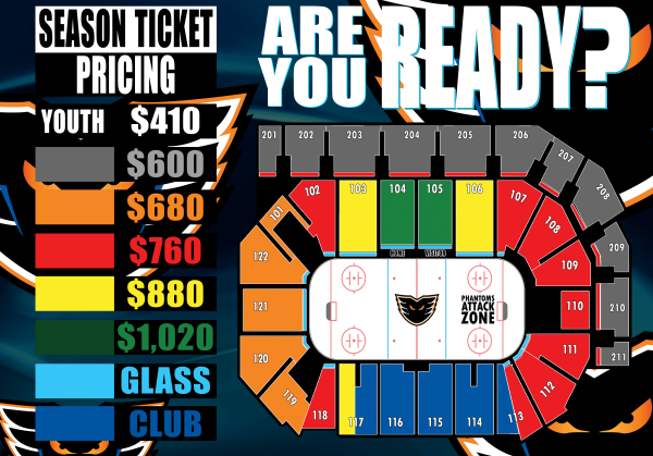 Here s another peak at the season ticket seating for hockey