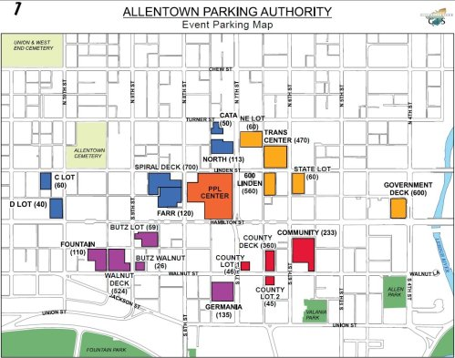 Map Courtesy Allentown Parking Authority