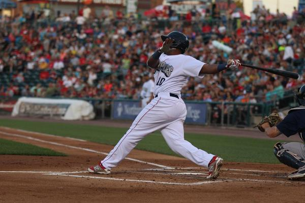 Franco with an RBI, from the final home stand.  Photo: Cheryl Pursell