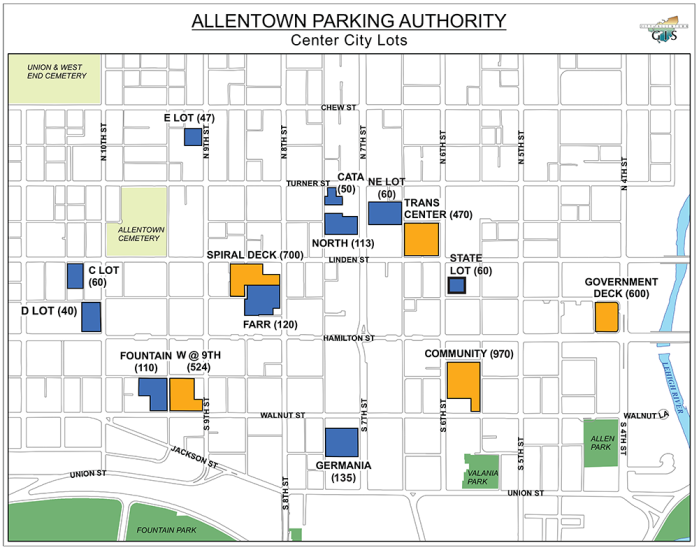 Parking Authority Map, circa 2016