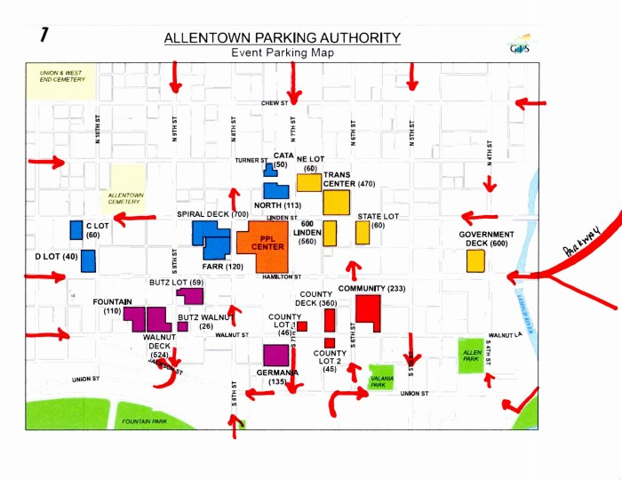 Parking Routes in Red. Modification (c) Kram209