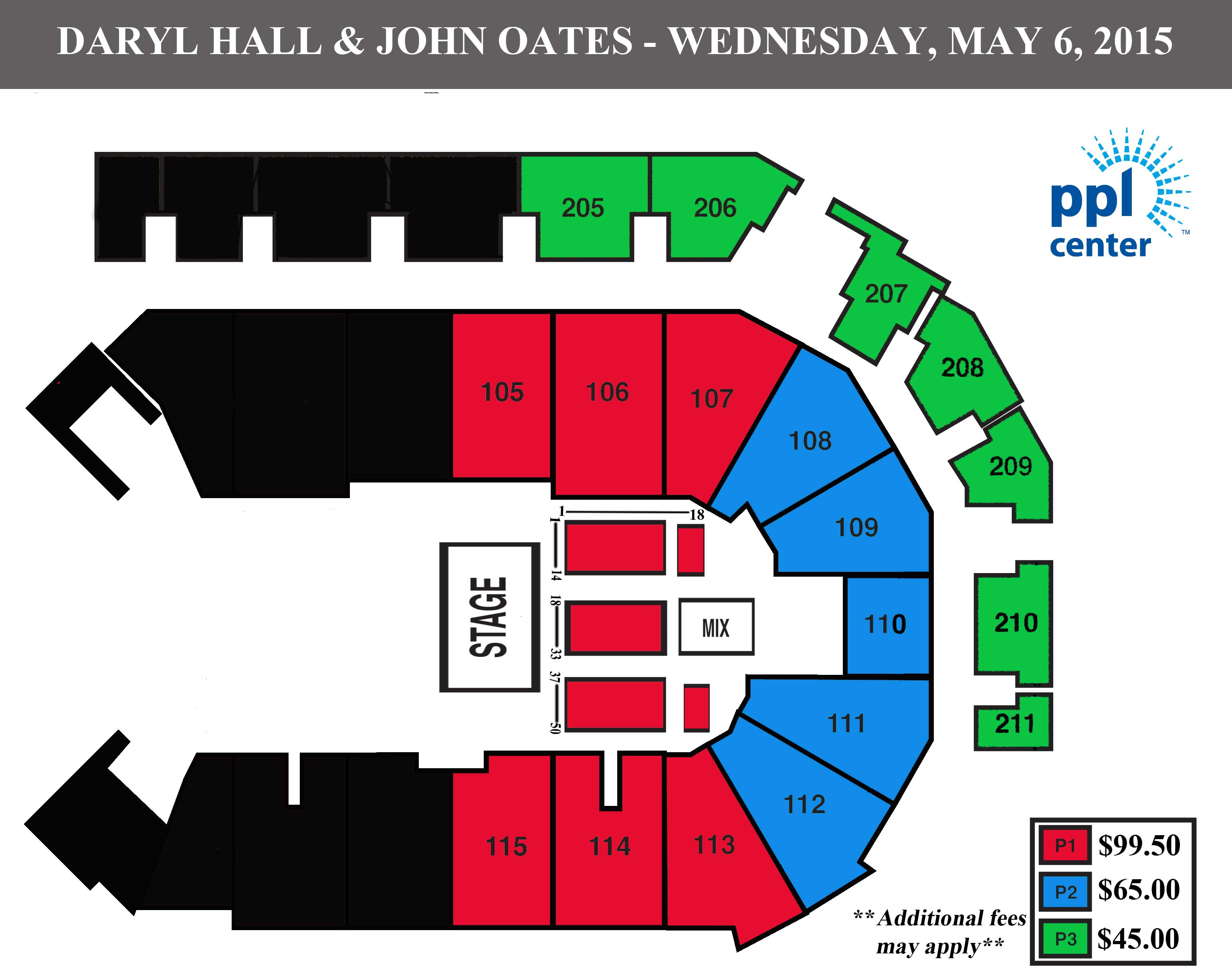 hall oates seating chart web