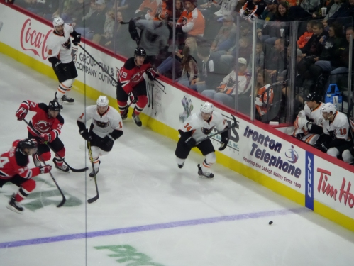 Gostisbehere leads the charge.  Taken from the Miller Light Loft. Photo: @Kram209