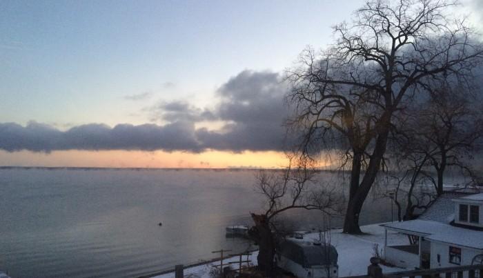 """Sunrise on Seneca"" -- My view for this morning.   Photo: Kram209"