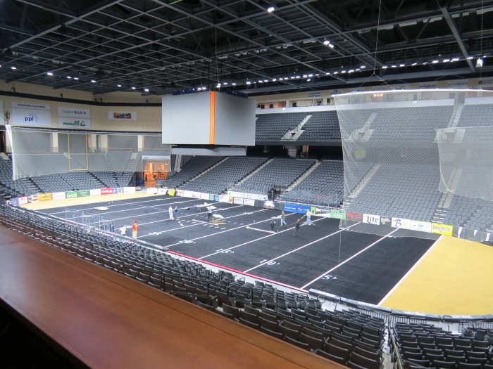 113 Loge Box view, for arena football