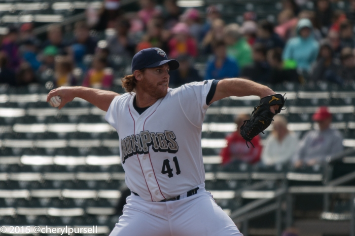 Chad Billingsley, seen here pitching for the IronPigs, is now on the Phillies' DL.  Photo: Cheryl Pursell