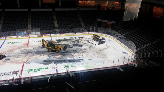 Ice Being Removed.  Photo: PPL Center
