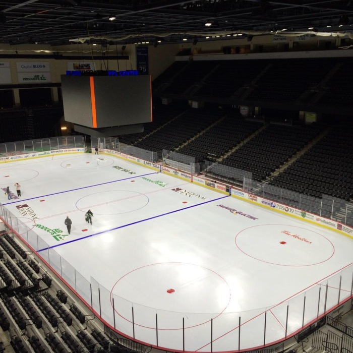Ice Being Re-Lined.  Photo: PPL Center