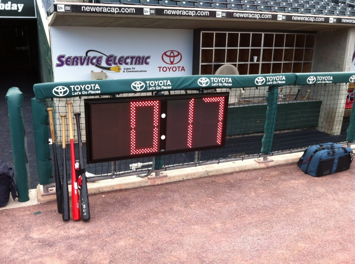 The same pitch clock about three seconds later.  ;-)