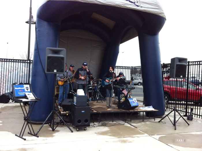My nephew's band Steel Creek with the pregame show.