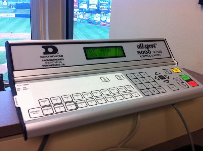 Pitch clock machine.