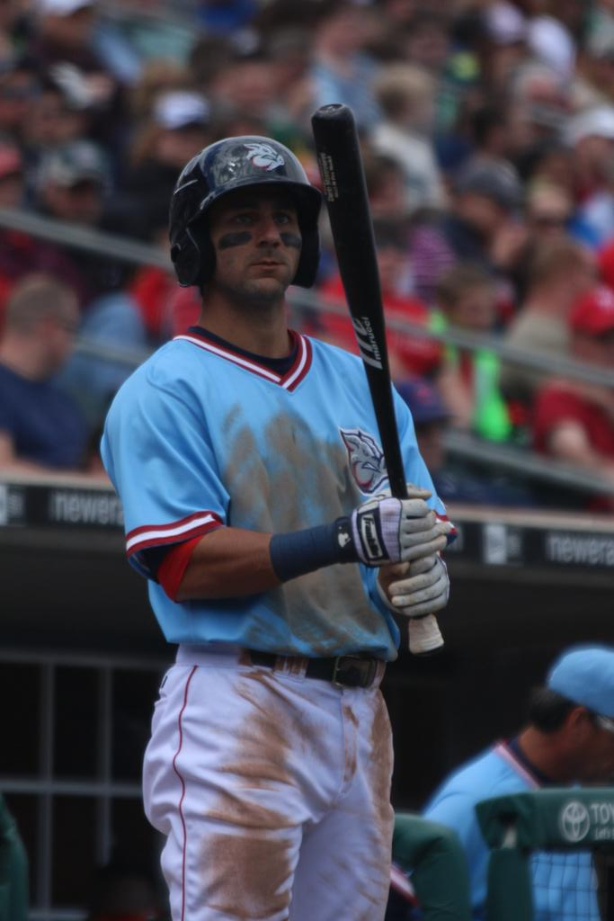 Darin Mastroianni can be an impact player--he's got the dirty uniform to prove it. Photo: Cheryl Pursell