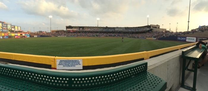 iPhone Panorama taken from the front row of PigPen 4.  Photo: Kram Junior