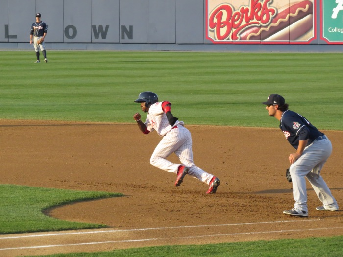 Quinn Breaks For Second.  They didnt even try to get him.  Photo: Kram