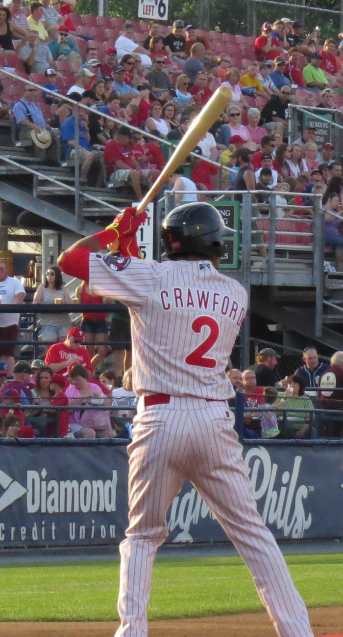 Crawford Steps In For His First-Ever AA At-Bat.  Photo: Kram
