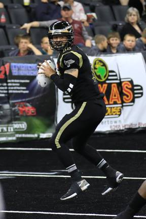 Zach Zulli provides the SteelHawks with a reliable backup QB, who can run or pass.  he also plays special teams.  Photo: SteelHawks