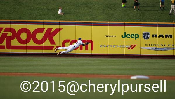 Danks lays out to make the catch.  Photo: Cheryl Pursell