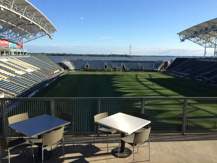 View from the club at PPL Park