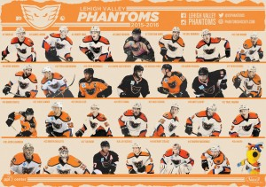 Team posters available after the game tonight, for Autograph Night on the concourse.