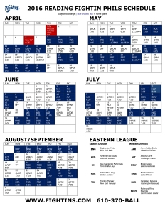 fightins sched