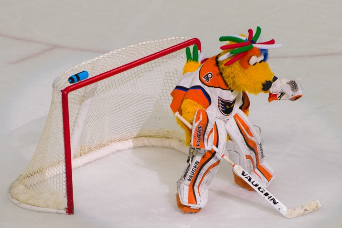 Our new goalie? Photo: Jack Mitroka