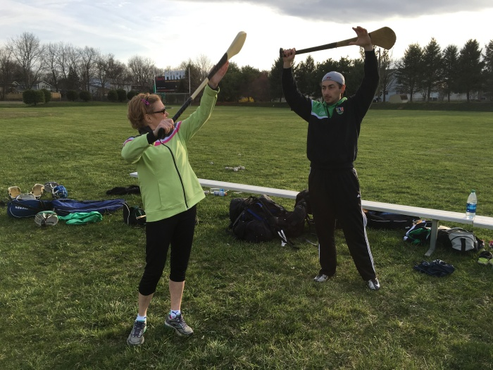 Lehigh Valley Rollergirl's own Cagey Rage learning how to properly swing her hurl.