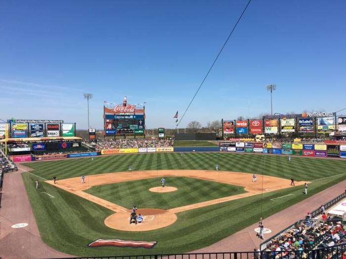 10,100 fans plus 360 dogs packed Coca Cola Park yesterday.  Photo: Dan