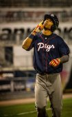 Nick Williams hit his first AAA homer in Moosic.  Photo: Cheryl Pursell