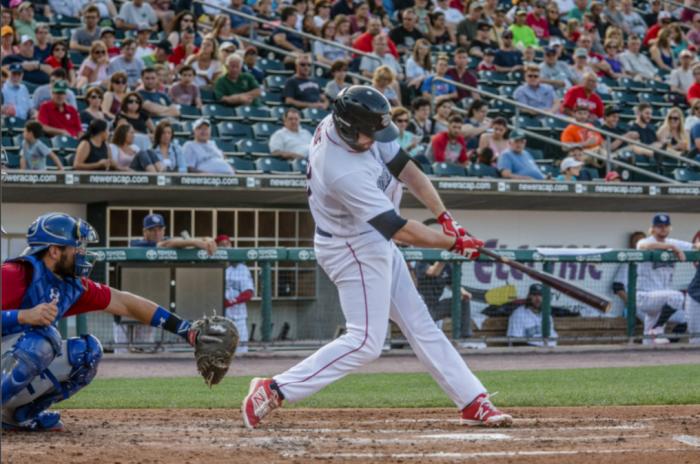 Ruf currently sporting a 15-game hitting streak. Photo: Cheryl Pursell