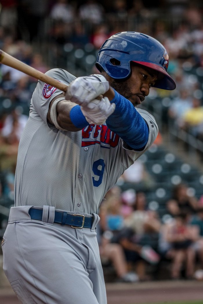 Dom Brown of the Bisons. Photo: Cherly Pursell