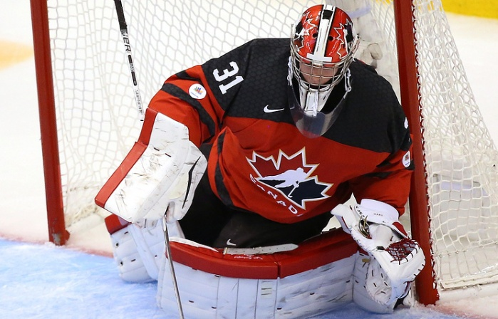 If potential future Lehigh Valley Phantoms goaltender Carter Hart cannot handle the enormous pressure of playing at the annual IIHF World Junior Championship then how the youngster would fare on behalf of the Hamilton Street Heroes at the cauldron that is the PPL Center with American Hockey League powers such as the Wilkes-Barre/Scranton Penguins and Hershey Bears skating about must be seriously called into question ..... (photo courtesy Elena Rusko / TASS news agency)